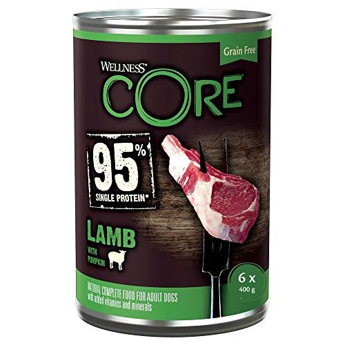 Wellness CORE 95, Hundefutter nass getreidefrei, hoher Fleischanteil, Lamm & Kürbis, 6 x 400 g