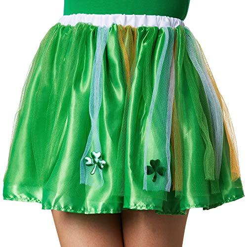 dressforfun 900547 Damenkostüm St. Patrick's Day Tutu in Nationalfarben, Tutu in irischen Nationalfarben (S/M| Nr. 302567)
