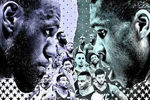 24x7 Póster de la NBA All-Star Weekend Basketball Motivational Poster 30,5 x 30,5 cm