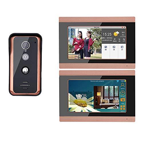 COUYY 7 Pulgadas 2 Pantalla WiFi WiFi Video Teléfono de Video Intercomunicador...