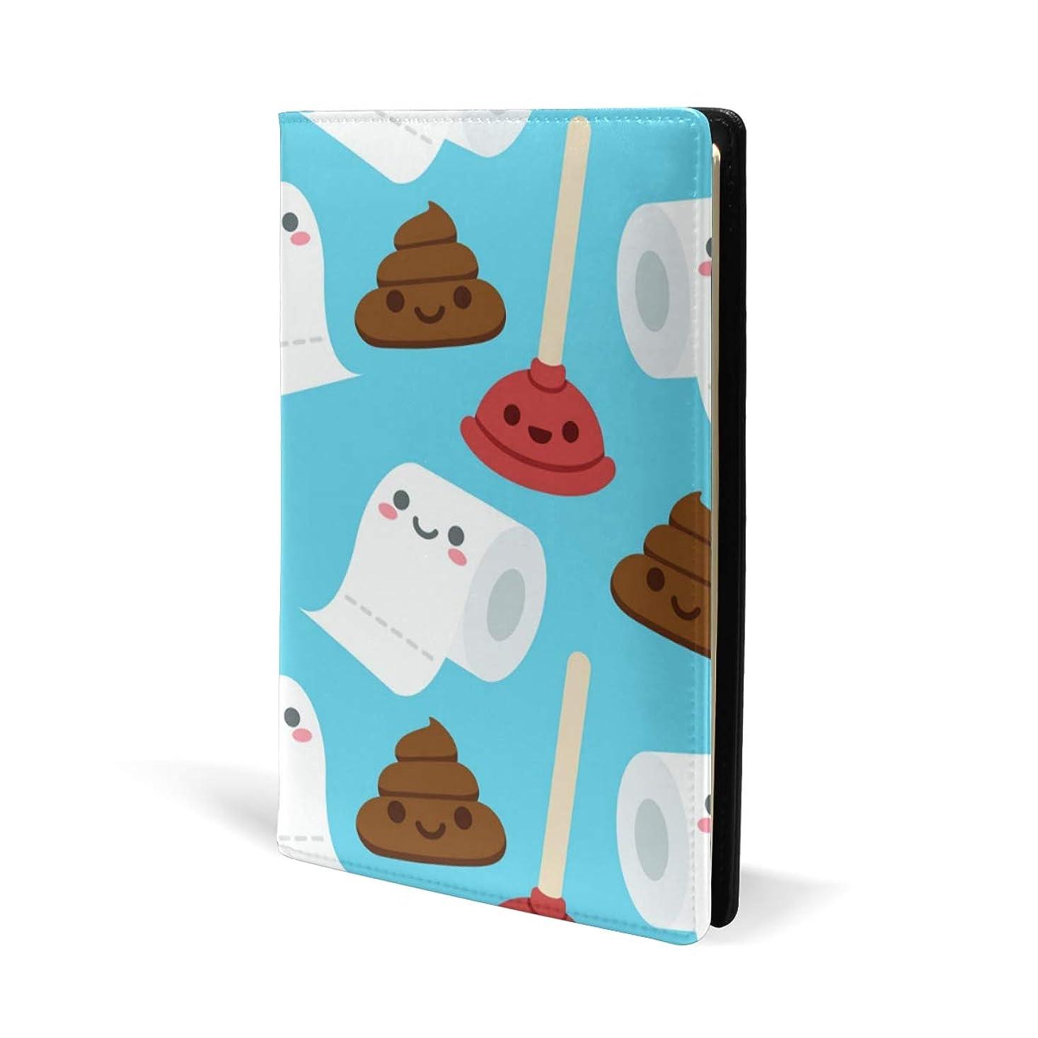 広告主批判的に色ブックカバー a5 うんこ トイレットペーパー おもしろい 文庫 PUレザー ファイル オフィス用品 読書 文庫判 資料 日記 収納入れ 高級感 耐久性 雑貨 プレゼント 機能性 耐久性 軽量