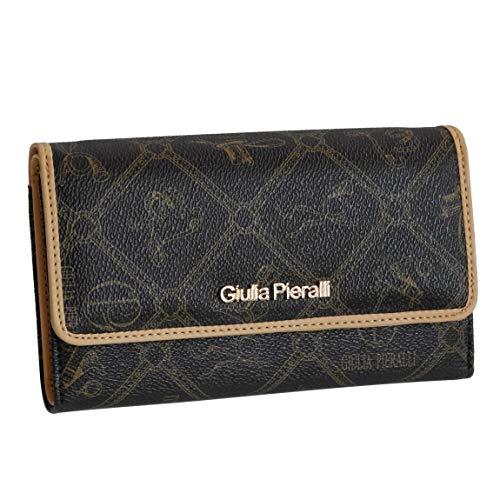 Giulia Pieralli - Portafoglio glamour in ecopelle, formato XXL, proposto da ZMOKA, in diversi colori, marrone (Marrone) - 0