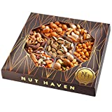 Holiday Nuts Gift Basket - Tasty Assortment of Crackers, Pretzels, Nuts & More - Fantastic Food Gift Basket for Christmas, Fathers Day, Thanksgiving, Family, Sympathy, Men & Women