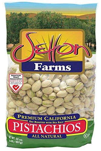 Setton Farms Premium Pistachios, Dry Roasted with Sea Salt, 32 oz Bag (01039)