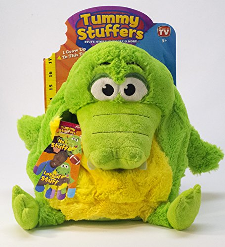 Tummy Stuffers Green Gator Plush Toy by Tummy Stuffers