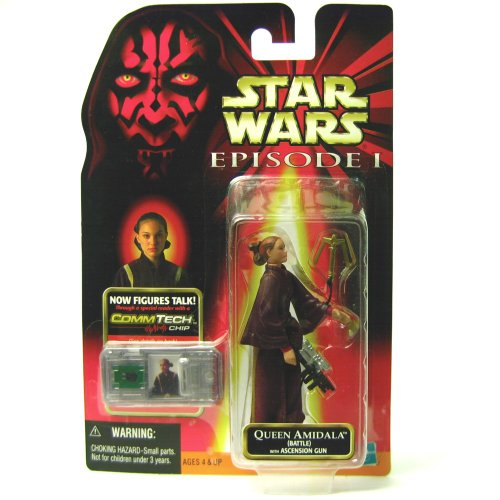 Hasbro Queen Amidala with Ascension Gun + Commtalk Chip - Star Wars Episode I The Phantom Menace Collection