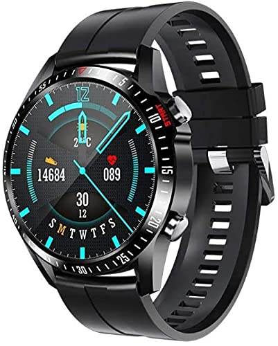 Pulsera inteligente reloj deportivo Bluetooth llamada frecuencia cardíaca presión arterial y oxígeno Monitoreo aleación de aluminio silicona pulsera funcional negro