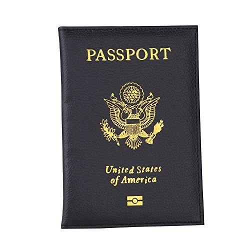 VECDY Damen Handtaschen Schultertasche Geldbörse Kartenhalter Tasche Passport Holder Schutz Brieftasche Visitenkarte Soft Passport Cover