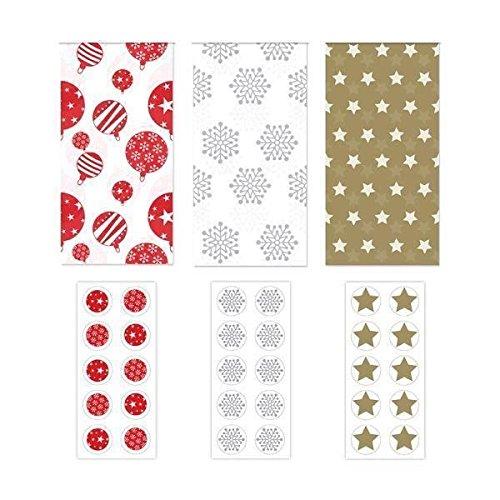 5Blatt Seidenpapier Weihnachts-Geschenkpapier Bedruckte gemustert Geschenk Geschenk Dekoration Frozen Aufkleber White Star 5 Sheets of Tissue Paper