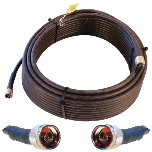 Wilson Electronics 75 ft. Black WILSON-400 Ultra Low Loss Coax Cable (N-Male to NMale)( 952375)