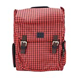miim Cube Checkered Backpack (Red) for Lenovo IdeaPad S400 Touch