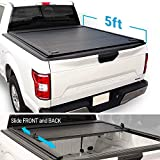 Syneticusa Aluminum Retractable Low Profile Waterproof Tonneau Cover for 2016-2021 Tacoma 5ft Short Truck Bed