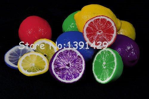 20 Pcs 6 couleurs rares Graines arc-en-citron mélangé Graines bio Fruit Lemon Tree jardin fruits des plantes peuvent être mangées