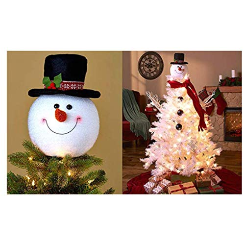 KNL Store Frosty Snowman Top Hat Christmas Tree Topper Decor Holiday Winter Wonderland Decoration
