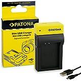 PATONA Slim Chargeur pour Batterie Canon LP-E12, EOS 100D | M10 | M2 | Rebel SL1 | 8.4 V / 500 mA | Con Micro-USB