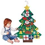 Outgeek Feltro Albero Natale, 3.28ft Della Feltolta di DIY con 30 ornamenti staccabili Regali di Natale di nuovo anno per la decorazione della parete del portello dei bambini
