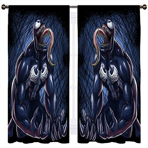 The Venom Roars - Cortina opaca para ventana, aislamiento térmico, 140 x 115 cm