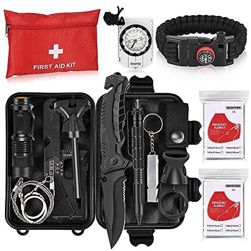 Napasa Survival Kit 54 in 1 Professional Survival Gear Tool Emergency...