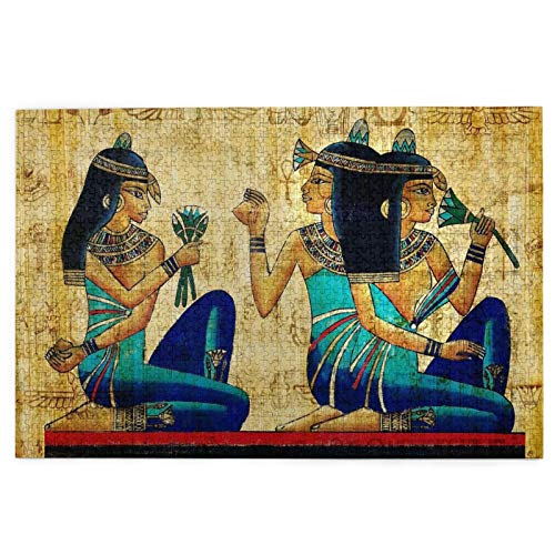 Rompecabezas de 1000 piezas para niños y adolescentes – Pintura artística del antiguo Egipto, juego de rompecabezas grande para juguetes educativos regalo (29.7 pulgadas x 19.8 pulgadas)
