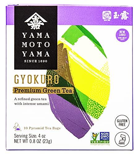 Yamamotoyama Gyokuro Green Tea Pyramid Bag, 0.81-Ounce Boxes (Pack of 2)