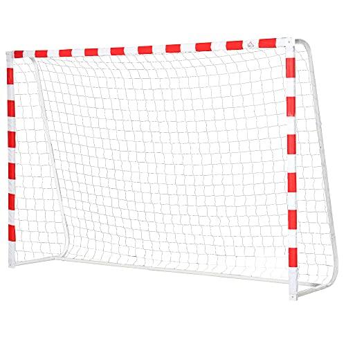 homcom Rete da Calcio, Porta da Calcio e Calcetto in Plastica PE per Adulti e Bambini, 302x83x201cm