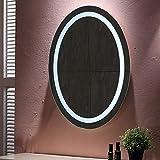 20W, Espejo baño, espejo baño con luz, Blanco frío + interruptor táctil +...