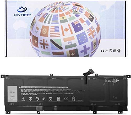 ANTIEE 11.4V 75Wh 6254mAh 8N0T7 Laptop Batteria per Dell XPS 15 9575 P73F001 15-9575-D1805TS D1605TS D2801TS D2605TS i5-8305G i7-8705G 2-in-1 Precision 5530 2-in-1 Notebook 8NOT7 0TMFYT TMFYT P73F