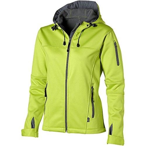 SLAZENGER Jacket Soft Shell femme Match (XXL, vert moyen/gris clair)