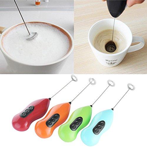 Mini Milchschäumer Mischer Elektro Schneebesen Kaffee schütteln Schäumer Schneebesen Ei Schläger (Wine)