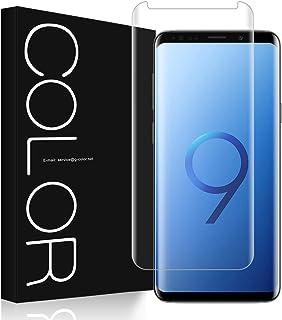 G-Color Pellicola Vetro Galaxy S9+/Plus, Pellicola [3D Vetro Temperato] Trasparente Pellicola Vetro [Alta Definizione] per...