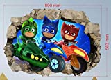 PJ Masken Wandaufkleber für Kinderzimmer, Jungen und