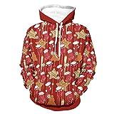 Calcetines de Navidad para hombre con capucha Star Populares Pullover