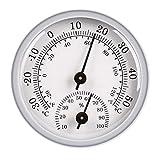 N/A/a Termómetro de Pared 2 en 1 higrómetro Indicador de humedad-20 y 120 F /-30 y 50 C 10 a 100% RH