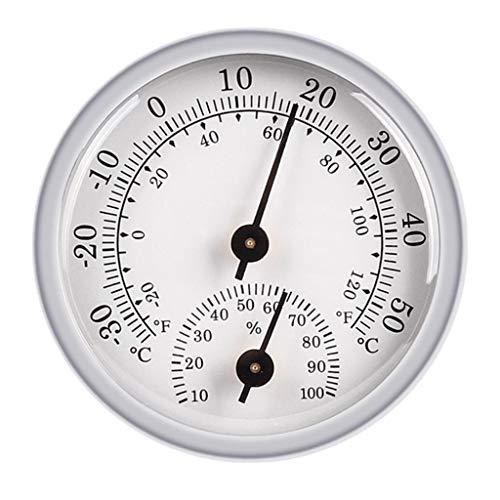 Non-brand Termómetro de Pared 2 en 1 Higrómetro Indicador de Humedad -20 Y 120 F / -30 C 100% RH