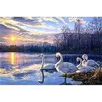 スワンレイク - パズル300/500/1000/1500/2000/3000/5000/6000/6000パズルパズルパズルギフト子供ギフト、壁の装飾 0125 (Color : A, Size : 500 pieces)