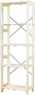 アイリスオーヤマ ラック 木製 幅58.5×奥行35×高さ179cm ウッディラック クリア WOR-5318