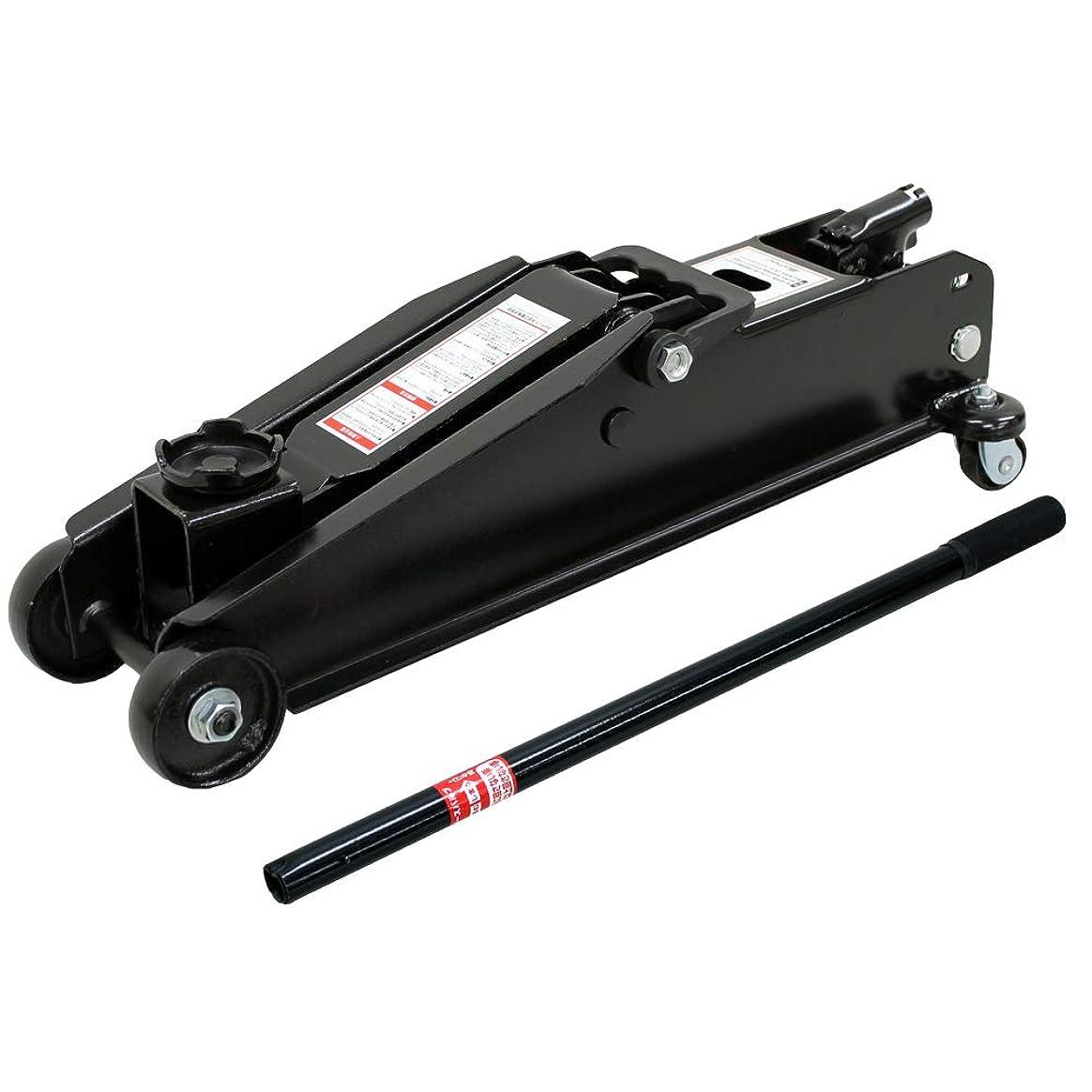 連鎖施し修理工メルテック フロアージャッキ(3t) 軽自動車~ミニバン?SUV 油圧式 最高値:435mm/最低値:140mm/ストローク:295mm Meltec FA-10