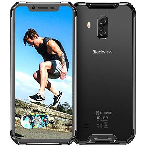 Cellulare Antiurto, Blackview BV9600 4G Rugged Smartphone Offerta, 6,2 Pollici Display AMOLED Octa-Core Helio P70 Cellulare, Android 9.0, 16+8MP, 4+64GB, Batteria 5580mAh IP68 Impermeabile Telefoni