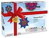 Kreul 42849 - Window Color XXL Set, für kleine und große Kreative, 9 x 80 ml Fenstermalfarben, 80...