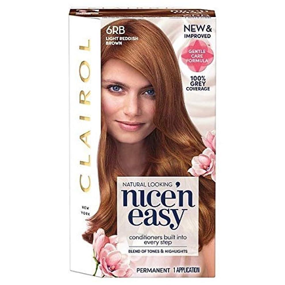 章気配りのある豊富な[Nice'n Easy] 簡単6Rb光赤褐色Nice'N - Nice'n Easy 6Rb Light Reddish Brown [並行輸入品]