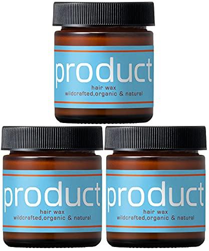 product(ザ・プロダクト) ヘアワックス 42g トリプルセット / シアバター ヘアバーム オーガニック スタイリング剤 サロン品質 柑橘系の香り