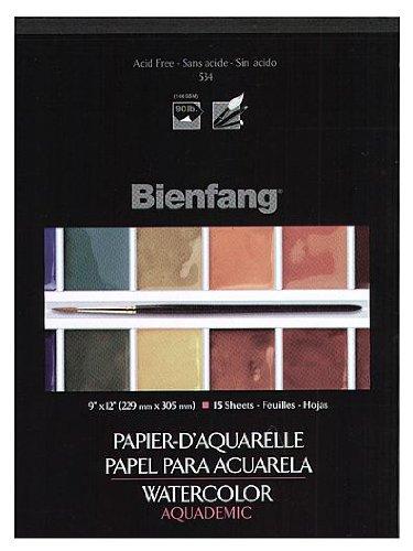 Bienfang Aquademic Watercolor Pads 11 in. x 15 in. pad of 15
