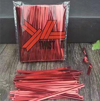 100 coloré 10,2 cm (100 mm) Métallique Twist Ties/mastics de sac plastique coloré avec fil, red-800pcs
