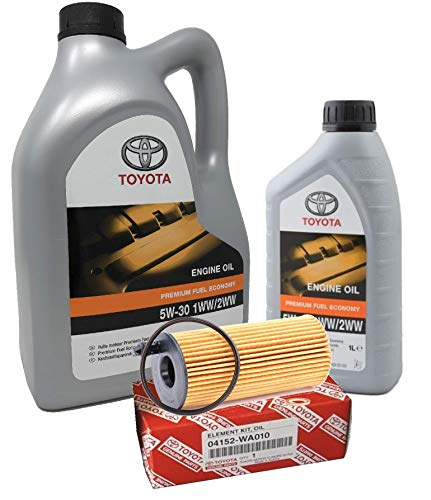 Aceite Motor Original - Toyota PFE 5W-30 1WW 2WW, Pack 6 litros (motores diesel)+ filtro aceite Original