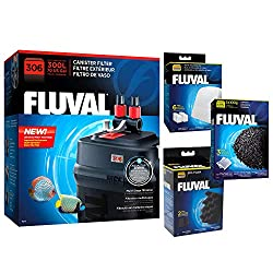 small Fluval 306 A212 with canister filter, biofoam, charcoal and polishing pad
