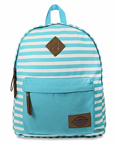 Dickies Cotton Canvas Classic Backpack, Blue Lagoon Stripe, One Size