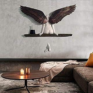 GFITNHSKI Sculpture murale, Sculpture d'art ange, Statue 3D Angel Art Sculpture Décoration murale, Esthétique Art Sculptur...