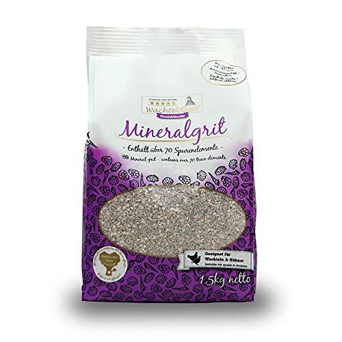 WachtelGold Mineralgrit 1,5kg - Muschelkalk - mineralischer Geflügelkalk - Vogelgrit
