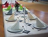 Sensalux Tischdecke, Öko-Tex 100, abwaschbar, (Farbe + Größe wählbar), weiß, 1m x 2,5m, Bierzeltgarnitur, Tischtuch, Tischwäsche, stoffähnliches Vlies, Party, Catering, Vereinsfeier, Geburtstagsfeier - 3