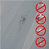AMANKA XXL Moskitonetz 2,5 x 12 m Doppelbett Mückennetz Reise Betthimmel Weiß - 4